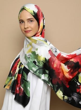 Multi - Floral - Printed - Twill - Shawl