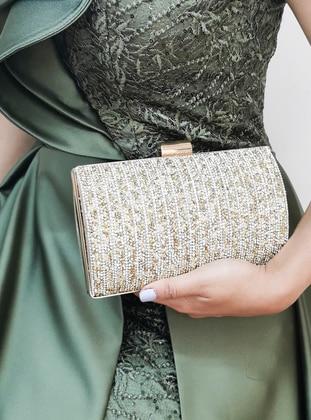 Gold - Clutch - Clutch Bags / Handbags - Nazart