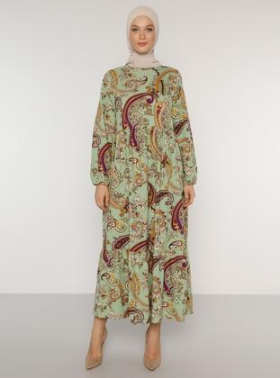 Green Almond - Shawl - Crew neck - Unlined - Dress