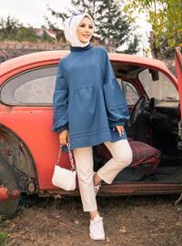Petrol - Crew neck - Cotton - Tunic