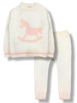 Polo neck - - Wool Blend - Cream - Baby Suit