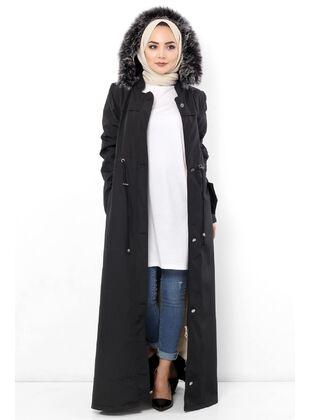 Black - Puffer Jackets - Tesettür Dünyası