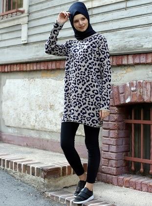 Mink - Leopard - Unlined - Knit Tunics