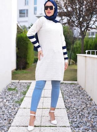 Stone - Unlined - Knit Tunics - Por La Cara