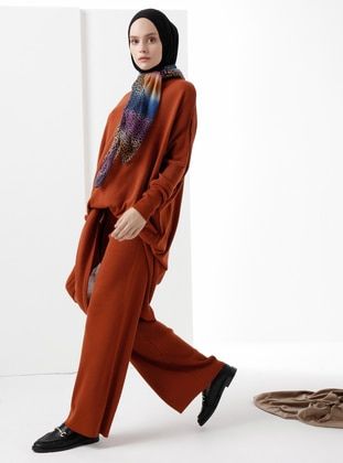 Cinnamon - Acrylic -  - Wool Blend - Knit Pants - Phull
