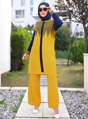 Mustard - Unlined - Acrylic - - - Knit Suits