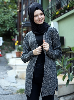Black - Unlined - Knit Cardigans
