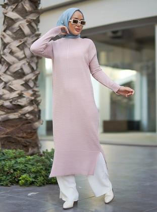 Powder - Unlined - Crew neck - Acrylic - - Knit Dresses
