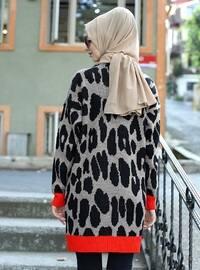 Mink - Leopard - Unlined - Acrylic - - - Knit Cardigans
