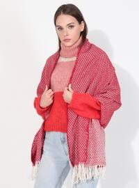 Acrylic - Red - Printed - Shawl Wrap