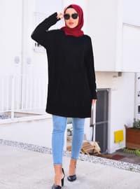 Black - Unlined - Knit Tunics