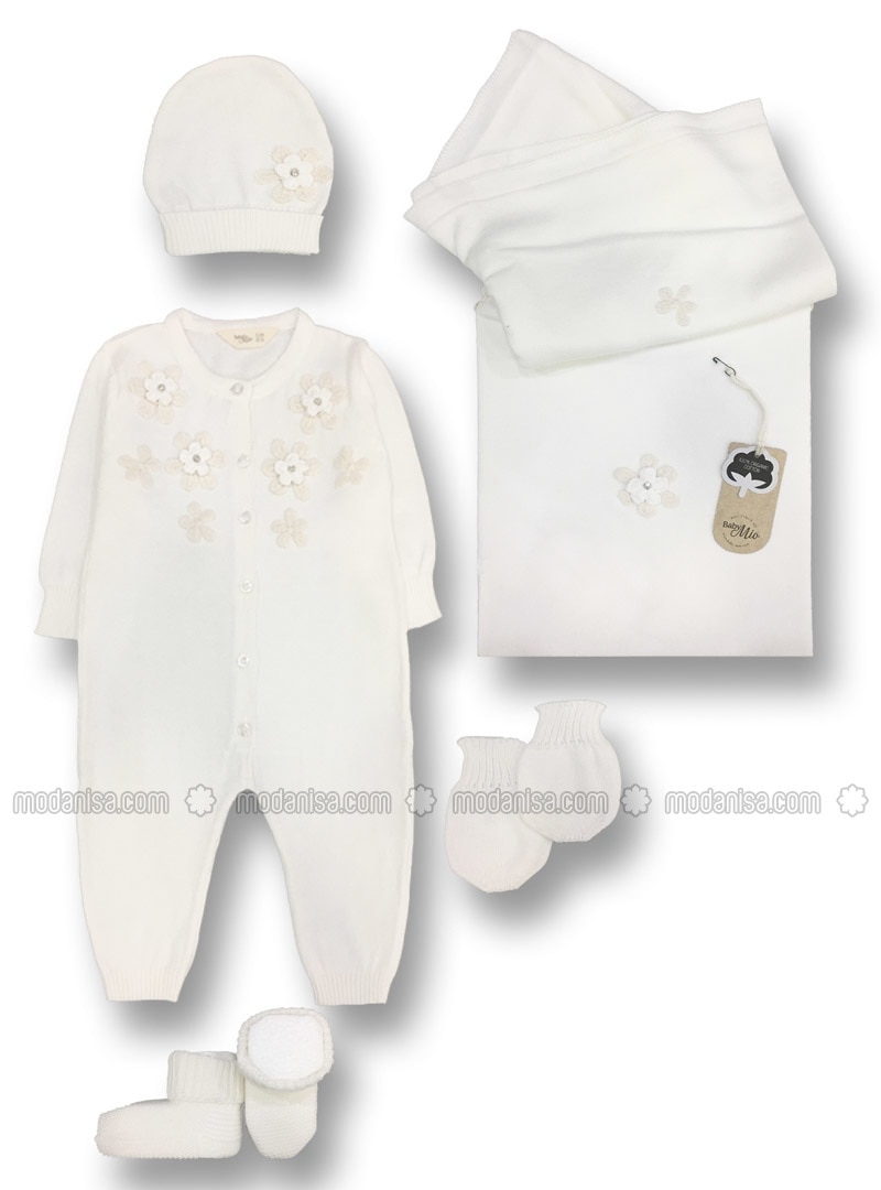 Unlined - White - Baby Suit