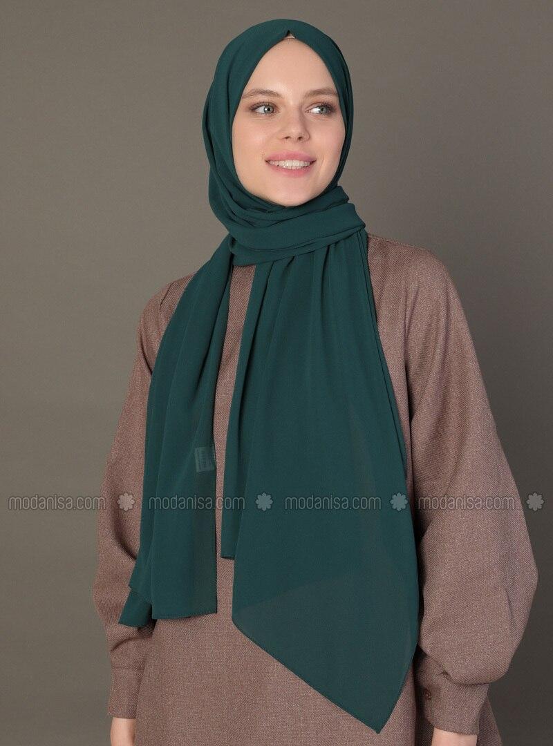 Green - Emerald - Plain - Shawl