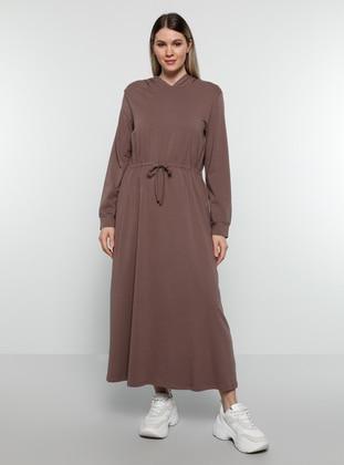 Purple - Unlined - Plus Size Dress