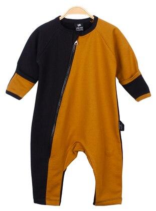 Crew neck -  - Unlined - Mustard - Black - Overall