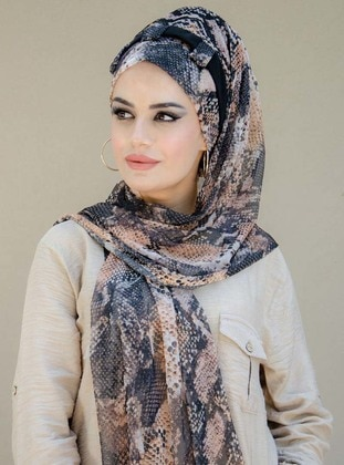 Multi - Printed -  - Viscose - Shawl