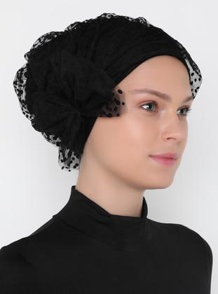 Black - Plain - Instant Scarf - ELEUSIS TEXTILE
