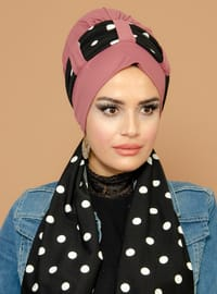 Dusty Rose - Polka Dot -  - Instant Scarf