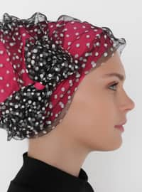 Pink - Printed - Instant Scarf