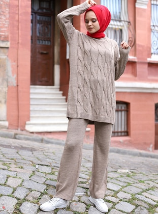 Mink - Unlined - Acrylic - - Knit Suits