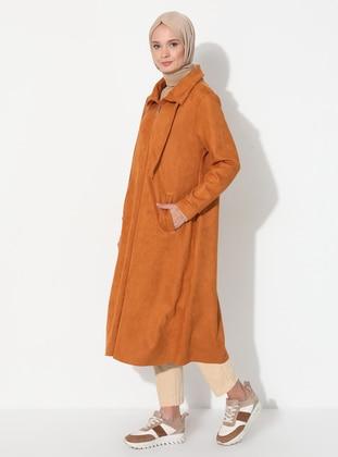 Mustard - Unlined - Polo neck - Topcoat