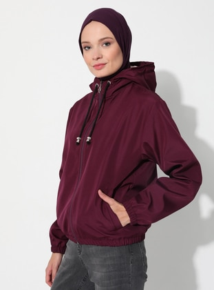 Plum - Fully Lined - Puffer Jackets
