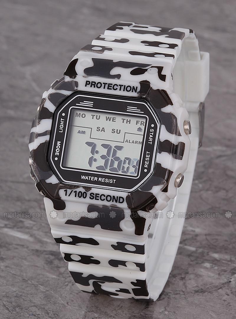 White - Black - Watch
