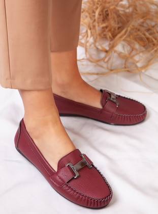 Flat - Casual - Maroon - Casual Shoes