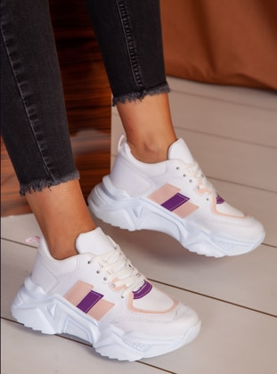 White - Powder - Sport - Sports Shoes