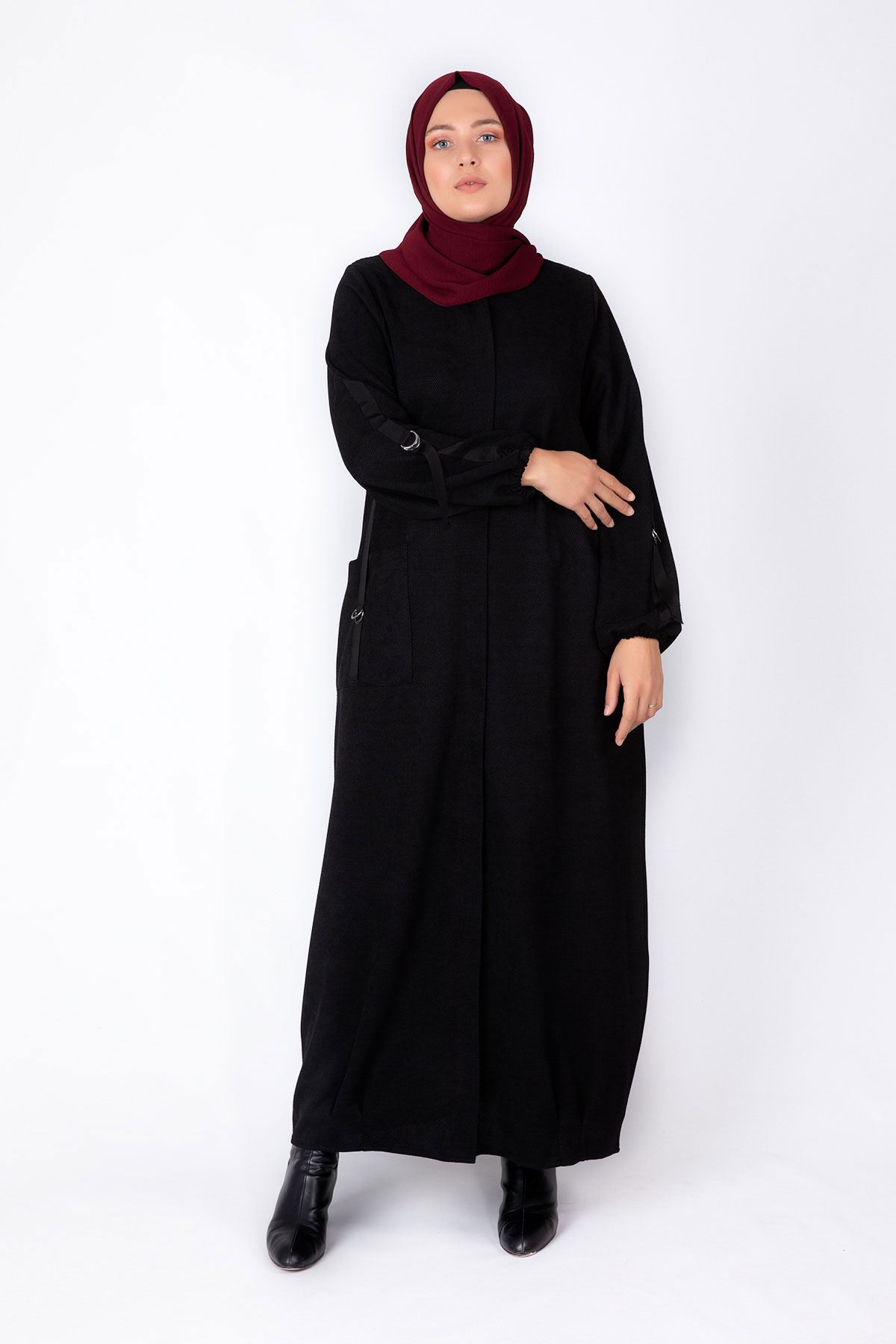 Plus Size Evening Abaya BEHREM Black