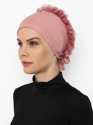 Dusty Rose - Lace up -  - Bonnet