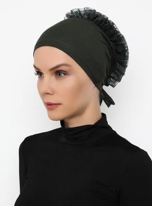 Khaki - Lace up -  - Bonnet