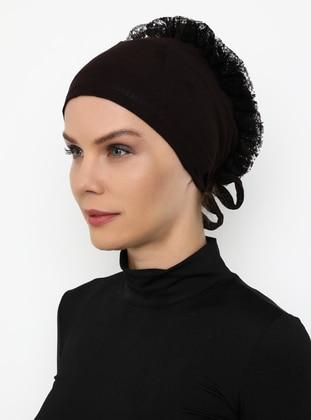 Brown - Lace up -  - Bonnet