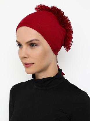 Red - Lace up -  - Bonnet