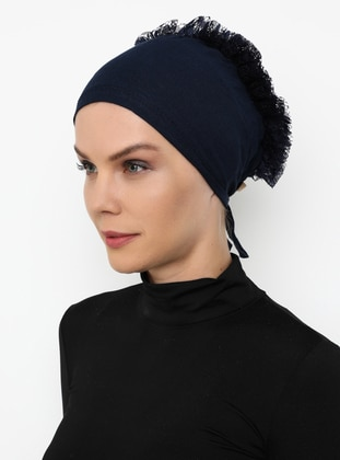Navy Blue - Lace up -  - Bonnet