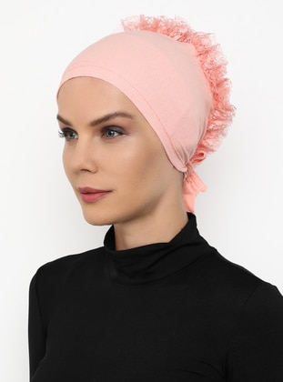 Salmon - Lace up -  - Bonnet
