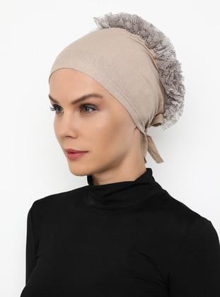 Mink - Lace up - - Bonnet
