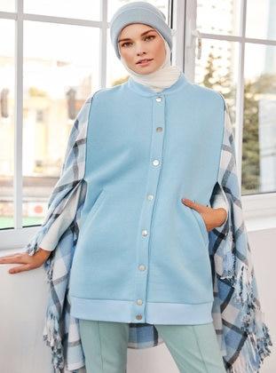 Blue - Unlined - - Jacket
