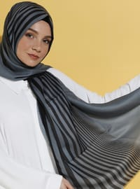 Green - Striped - Shawl