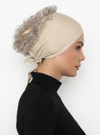 Beige - Lace up -  - Bonnet
