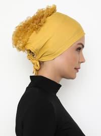 Gold - Lace up - - Bonnet