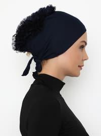 Navy Blue - Lace up -  - Bonnet