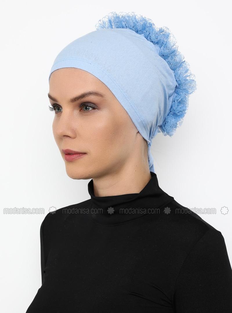 Baby Blue - Lace up - - Bonnet