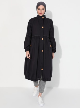 Smoke - Unlined - Polo neck - - Trench Coat