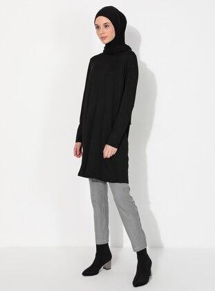Black - Plaid - Pants