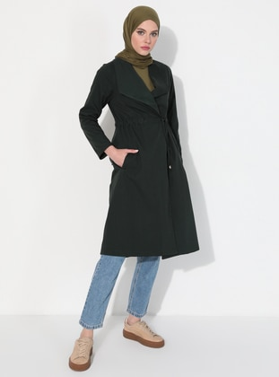 - Emerald - Unlined - Polo neck -  - Trench Coat