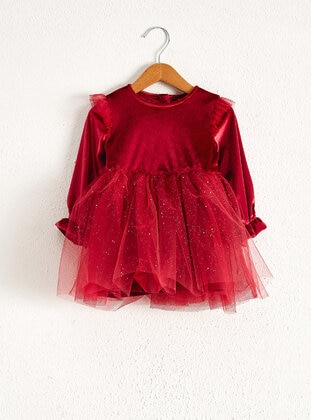 Maroon - Baby Dress - LC WAIKIKI