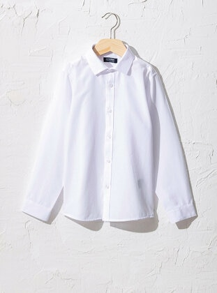 White - Boys` Shirt - LC WAIKIKI