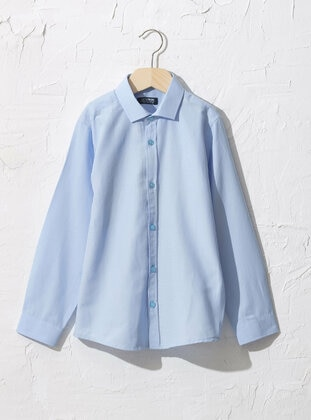 Blue - Boys` Shirt - LC WAIKIKI