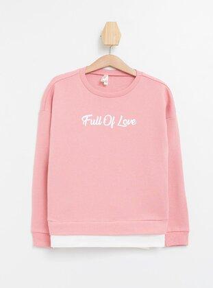 Pink - Girls` Sweatshirt - DeFacto